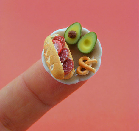 Adorable Tiny Food Sculptures That Fit on the Tip of Your Finger - Flavorwire | Visual & digital texts | Scoop.it