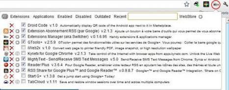 Un gestionnaire d'extensions pour Google Chrome, Extension Manager   Ballajack   Outils, logiciels et tutos : de la curiosité à l'indispensable   Scoop.it