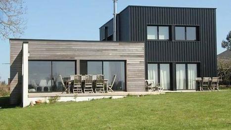 Maison contemporaine bois et m tal avec - Maison bois metal ...