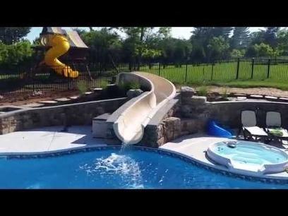 Custom Slide Browning Pool and Spa   Browning Pools & Spas   Scoop.it