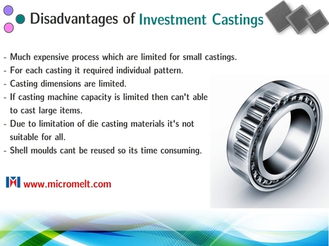 What are the disadvantages of investment castings? | Casting Industries | Scoop.it