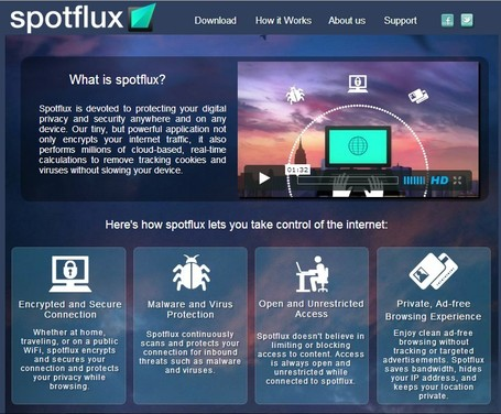 "Spotflux - lets you connect to the internet freely, safely, and securely from anywhere in the world | ""#Google+, +1, Facebook, Twitter, Scoop, Foursquare, Empire Avenue, Klout and more"" 