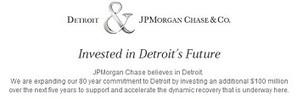 Detroit Economic Development Gets $100M Boost From JP Morgan Chase   Strengthening Brand America   Scoop.it