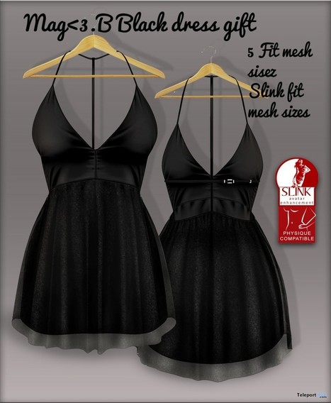 Black Dress 5L Promo by Mag | Second Life Freebies | Scoop.it
