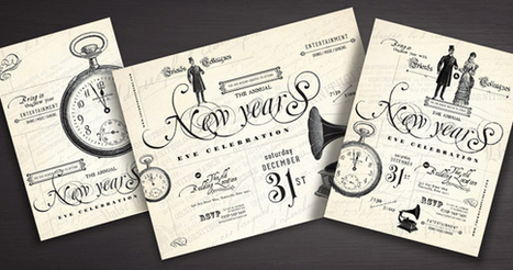 Vintage Style New Year's Party Designs | Design | Scoop.it