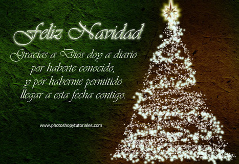 PSD gratis: tarjeta navideña con mensaje | Photoshop y Tutoriales | concorde11 | Scoop.it