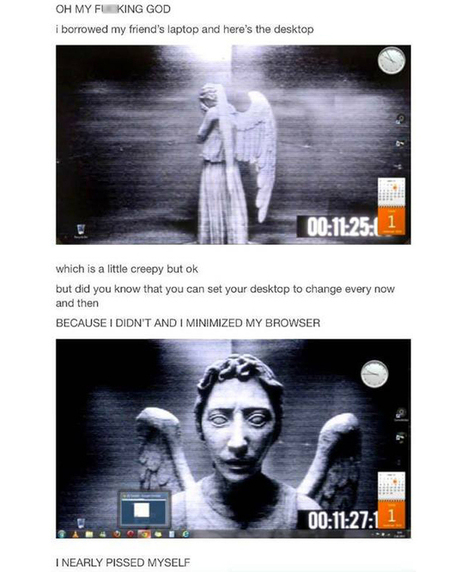 Put This Weeping Angel Wallpaper On Your Desktop And Terrify Everyone | Strange days indeed... | Scoop.it