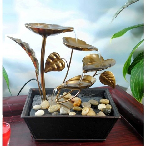 Buy Attractive Metal Leaves LED Tabletop Fountain Online @ Best Price - Importwala.com   Buy online Home Decor Shopping in India - Importwala.com   Scoop.it