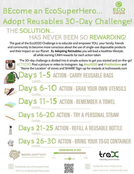DAY #1 - Break out those REUSABLE bags at any US store for rewards! | Eco Action Heroes | Scoop.it