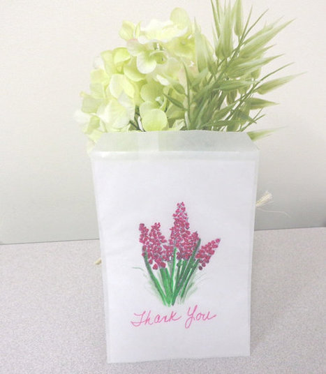 Thank You Favor Bags Pink Candy Buffet Wedding Party favor glassine bags set of 10 | Candy Buffet Weddings, Events, Food Station Buffets and Tea Parties | Scoop.it