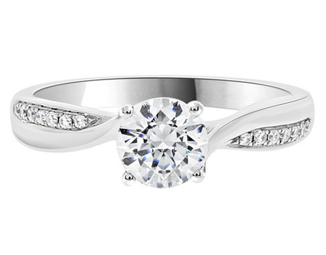 1.0 carat side stone ring pr1008 | Engagement Rings | Scoop.it