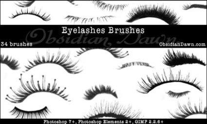 Eyelashes Photoshop & GIMP Brushes | Obsidian Dawn | Recursos Gráficos | Scoop.it