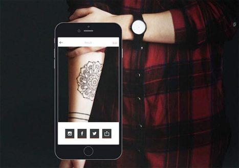 Ink Hunter : une application pour tester son tatouage en réalité augmentée   Chasseurs de cool   IDEES BUSINESS   Scoop.it