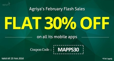 Grab a 30% discount on all Agriya's mobile app scripts till 25th February 2016 | Thumbtack clone and Taskrabbit clone script, clones script | Scoop.it
