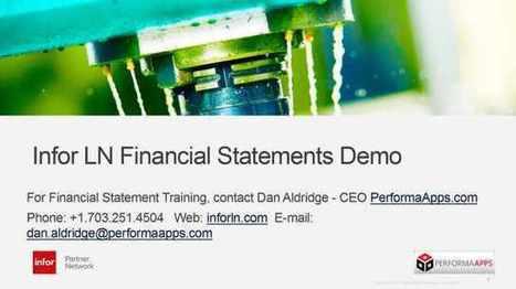 InforLN.com LN Financial Statements Demo | InforLN.com ERP | I Love Enterprise Software | Scoop.it
