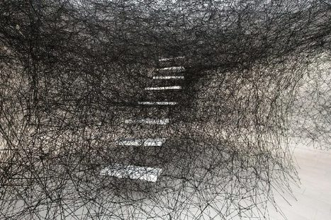 Chiharu Shiota: Stairway | Art Installations, Sculpture, Contemporary Art | Scoop.it
