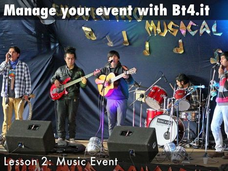 BT4.it Manage a music event - A Haiku Deck by Umberto Cipriani   Ripensare il Cinema   Scoop.it