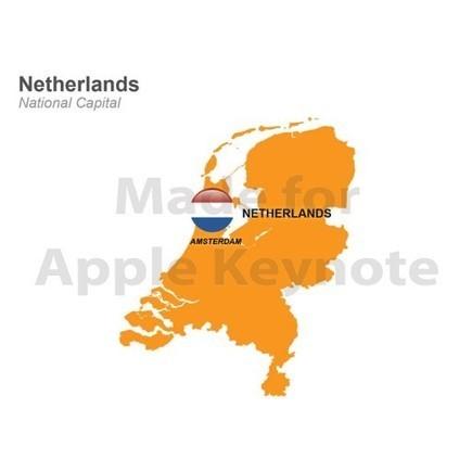 Map of Netherlands for Mac Keynote Presentation | Apple Keynote Slides For Sale | Scoop.it