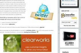 Innovation Excellence: Nominations Open – Top 50 Innovation Tweeters of 2012 | Tracking Transmedia | Scoop.it