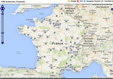 Les cartes de déploiement 3G/4G concernant Free Mobile au mois de novembre | Free Mobile, Orange, SFR et Bouygues Télécom, etc. | Scoop.it