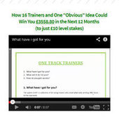 One Track Trainers | Betting Systems Reviews | Betting Systems Reviews | Scoop.it