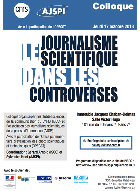 [Colloque ] Le journalisme scientifique dans les controverses | anerol | Scoop.it