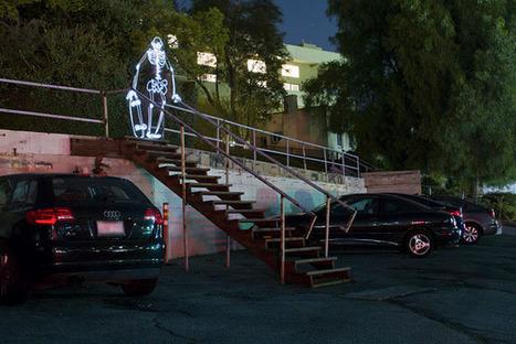 Skeleton Skater Animation Created with Light Painting Photos - PetaPixel   Machinimania   Scoop.it