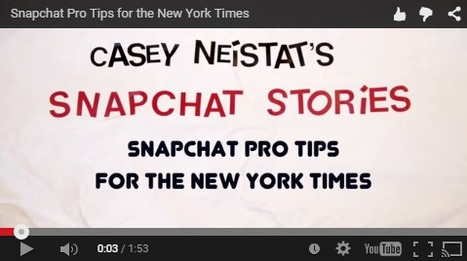 Snapchat: A New Mobile Challenge for Storytelling | Transmedia: Storytelling for the Digital Age | Scoop.it