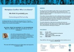 Workplace Conflict - Sydney Colloquium, Hilton Hotel July 22, 2013 - Proactive Resolutions | Respectful Workplaces | Scoop.it