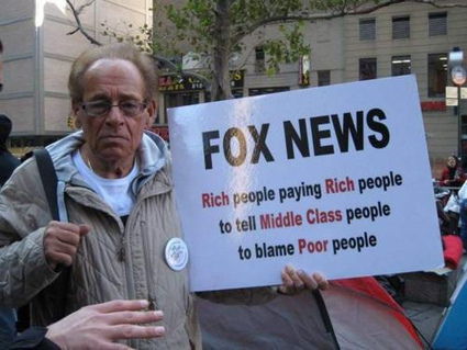 Fox News: Rich people paying rich people to tell middle class people to blame poor people. | Importance of the news | Scoop.it