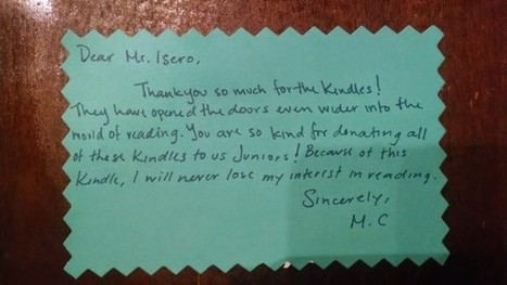 SF students give thanks for Kindles | Kindle Classroom Project | Scoop.it