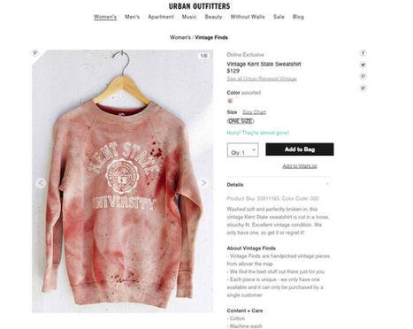 Urban Outfitters met en vente un sweatshirt de très mauvais goût   Suivons la mode   Scoop.it