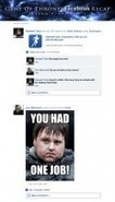 If Game Of Thrones took place entirely on Facebook: Season 3, Episode 1. | Television: Programas y Series | Scoop.it