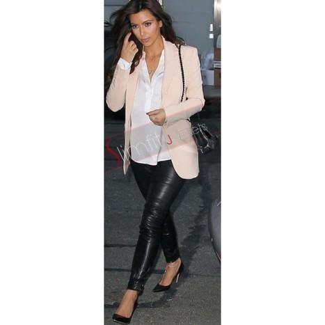 Kim Kardashian Leather Pant | Designers Women Leather Jackets & Pants | Scoop.it
