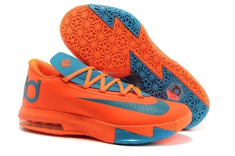Nike Zoom KD 6 Peacock Blue Team Orange for sale | Cheap KD Shoes | Scoop.it