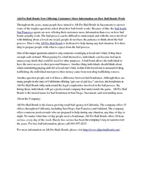 Bail Bonds San Francisco - PDF   All-Pro Bail Bonds   Scoop.it