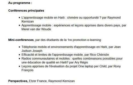 #ISTEAH #MiniColloque L'apprentissage mobile en Haïti : chimère ou opportunité ? 10 mai, 4h à 7h pm | Caraïbe 2.0 | Scoop.it