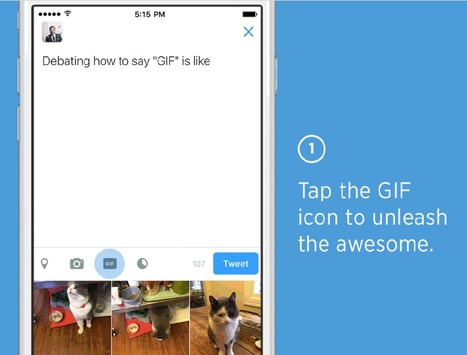 Twitter Launches GIF Search Feature on iOS, Android and the Web | TechCruch | SocialMoMojo Web | Scoop.it