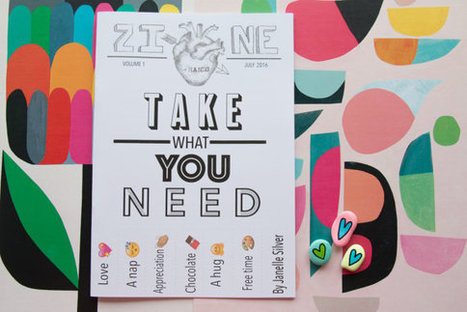 Take What You Need Zine - An A5 handmade zine about being human and needing stuff! | Writing and Journalling | Scoop.it
