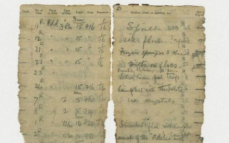 Photographer's 100-Year-Old Notebook Discovered in Antarctica After Snow Melts | xposing world of Photography & Design | Scoop.it