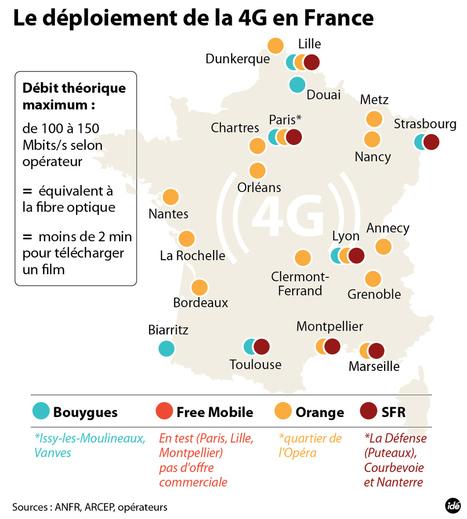 INFOGRAPHIE - Le déploiement de la 4G en France - technologie - DirectMatin.fr | Infographies - CAP2 - | Scoop.it