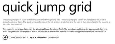 » WP7 – Quick Jump Grid Sample Code Clarity Blogs | LdS Innovation | Scoop.it