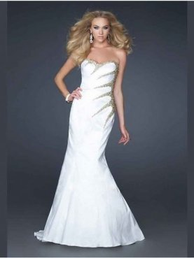 A Line Strapless Sweetheart Taffeta White Prom Dresses [Taffeta White Prom Dresses] - $201.00 : www.2014dresstrends.com | long prom dresses | Scoop.it