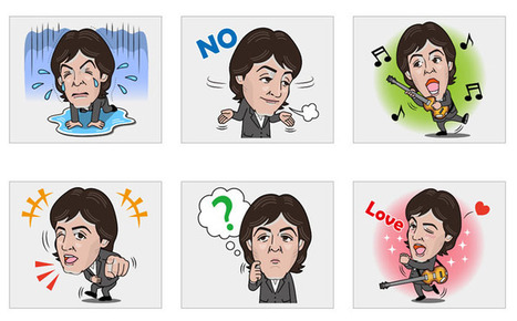 Paul McCartney launches free stickers for his 3.1m Line followers | Social Media Guru | Scoop.it
