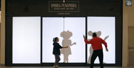 Disney remplace votre ombre dans une vitrine par celle d'un personnage culte | streetmarketing | Scoop.it