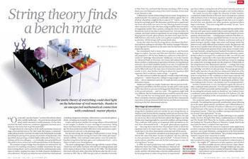 Collaborative physics: String theory finds a bench mate : Nature News | Transwarrior | Scoop.it