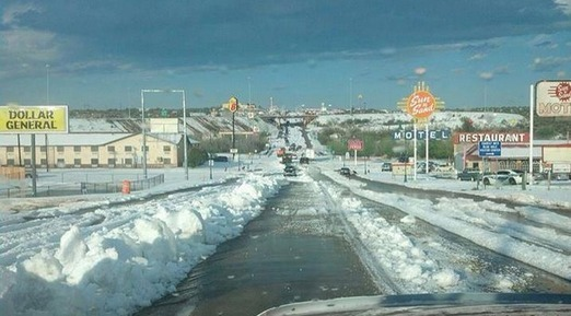 Town Covered In Nearly 2 Feet of 'Golfball Sized Hail' Mid-Summer -