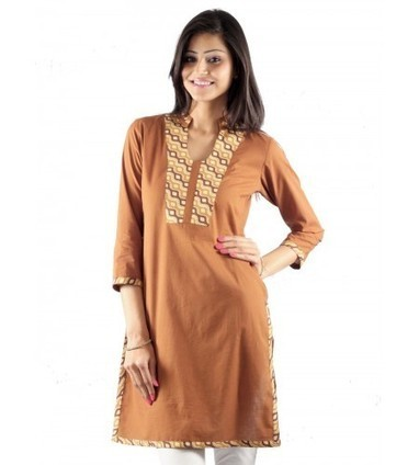 ®UPTOWN Store | Buy Brown Cotton Kurtis Online @ Rs.599.00 | Women Western,Ethnic Wear, Dresses, Tops, Skirts, Kurtis, Leggings with Best Deals- UPTOWNGALERIA | Scoop.it