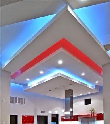 False ceiling pop designs with LED ceiling lighting ideas for living room part 1 | living room design | Scoop.it