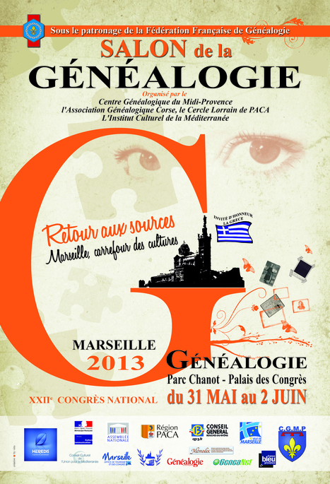 Le Congrès National de Généalogie – Marseille 2013 | Rhit Genealogie | Scoop.it